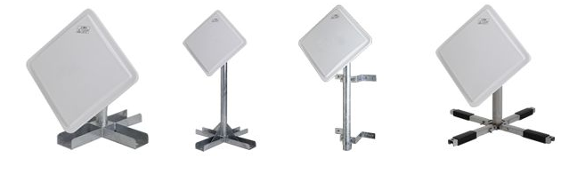 NTTdocomo衛星屋外設置アンテナ01用取付金具